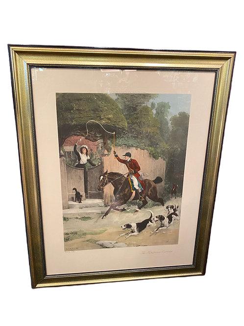"S.E. Waller Print ""The Huntsmans Courtship"" 1899"