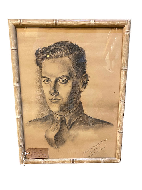 WW2 Pencil Drawing Jack R. Gustatson Belgium