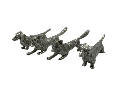 4 Knife Rests - Foxes & Hounds