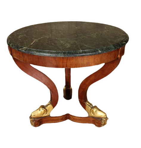 French Directoire Style Marble Top Center Table