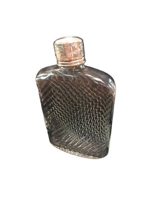 Vintage Flask with Sterling Silver top