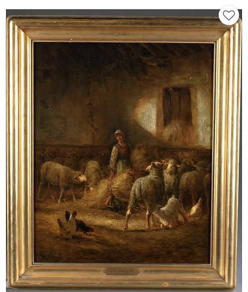 Jacque, Charles-Emile Oil on Canvas