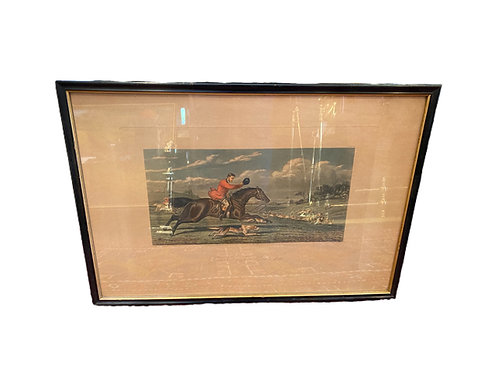 Foxhunting Lithograph