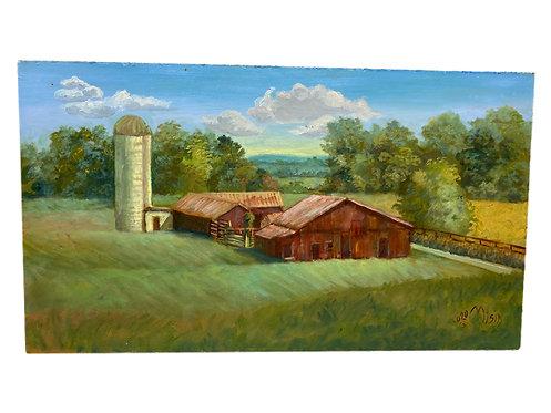 Virginia Barn Oil on Panel by Misia Broadhead