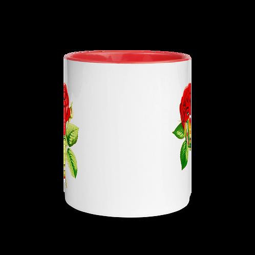 Rose Mug with Color Inside
