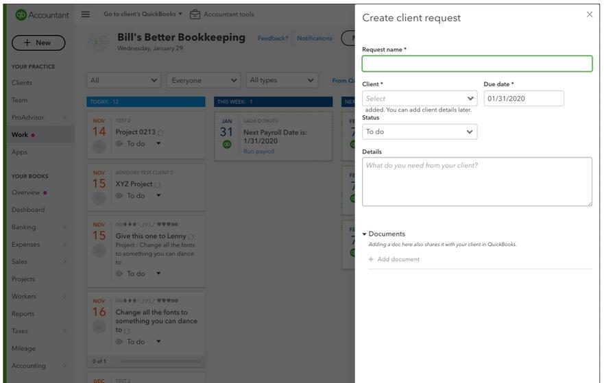 Quickbooks Accountant Client Request Workflow