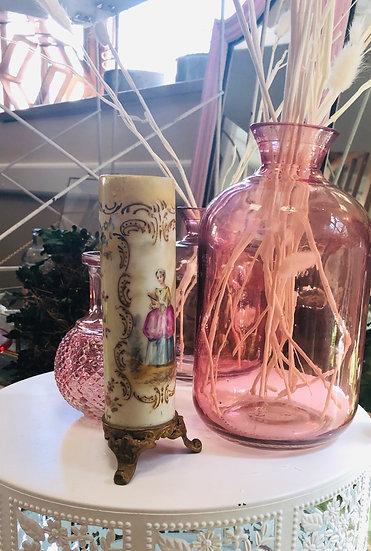 Vintage Portrait bud vase