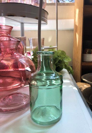 Green glass bud vase