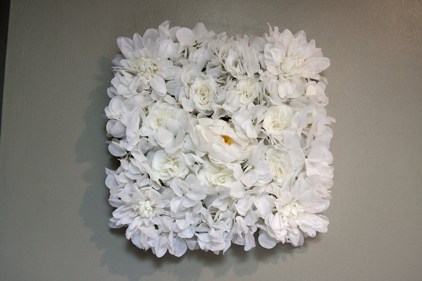 White Floral squares