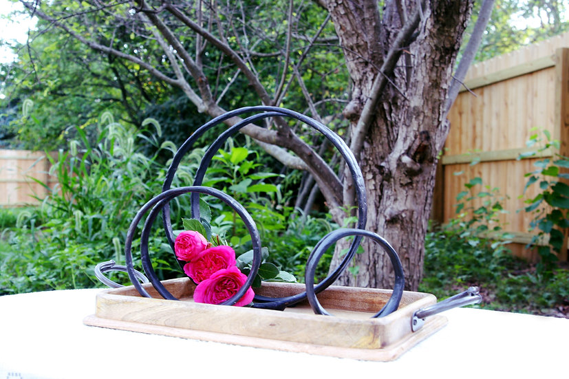 Two Ring Iron Candle Holders