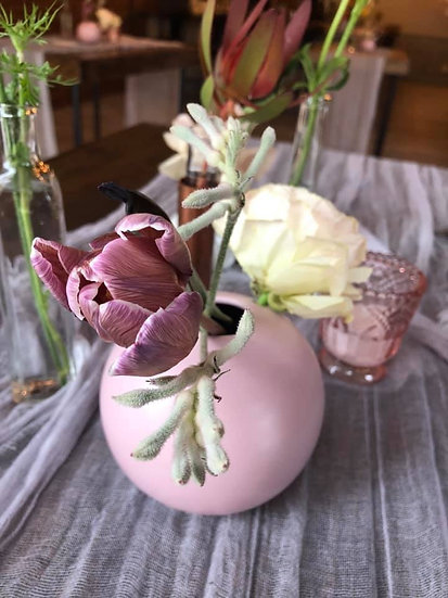 Light pink Round 2 hole vase