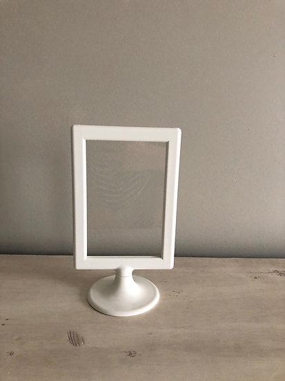 White Pedestal Frame