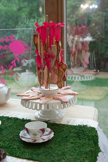 White Eyelet Cake Stand