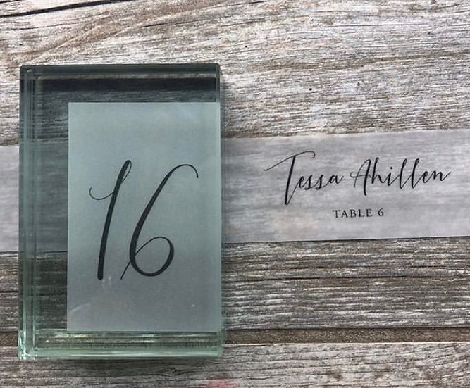 Glass block picture frames