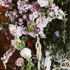 Love this mirror with florals! This big