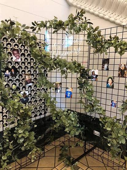 Black metal Grid wall