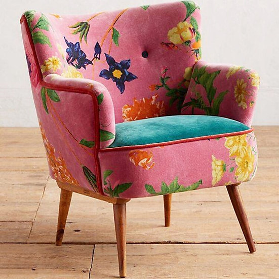 Pink Floral Arm Chair