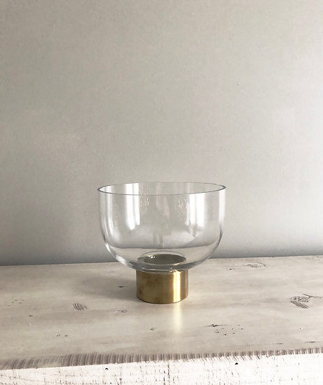Glass + Gold Medium Compote