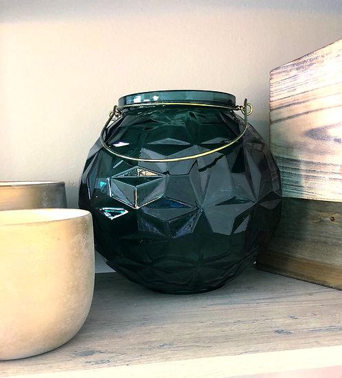 Dark Green glass Lantern