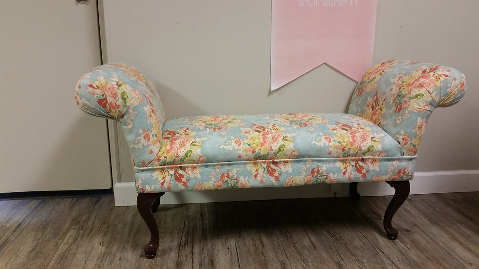 Floral Roll Armed Bench