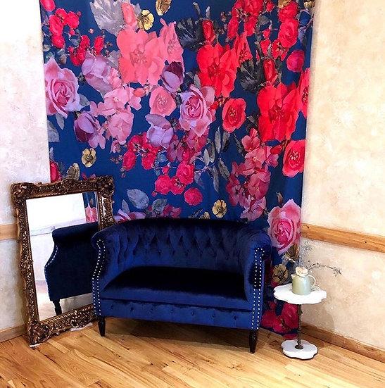 Dramatic Floral Drape backdrop 8x10'