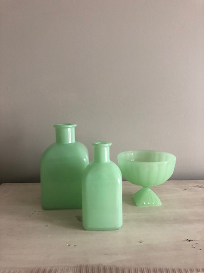Mint Milk Glass