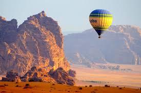 Hot air ballooning, Wadi Rum, Jordan