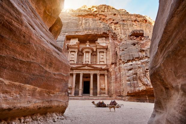 The Treasury Building, Petra, Jordan.