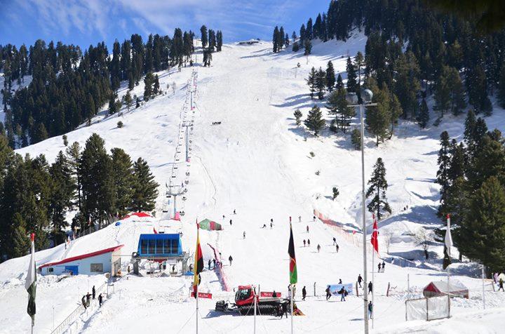 Skiing in Malam Jaba, Pakistan