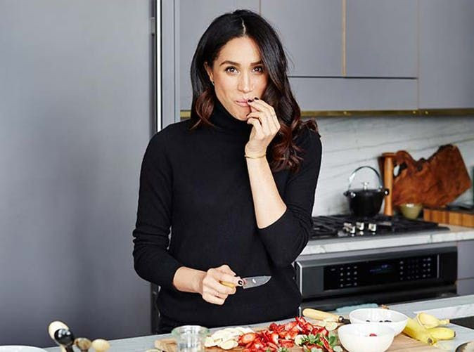 meghan markle cooking kitchen