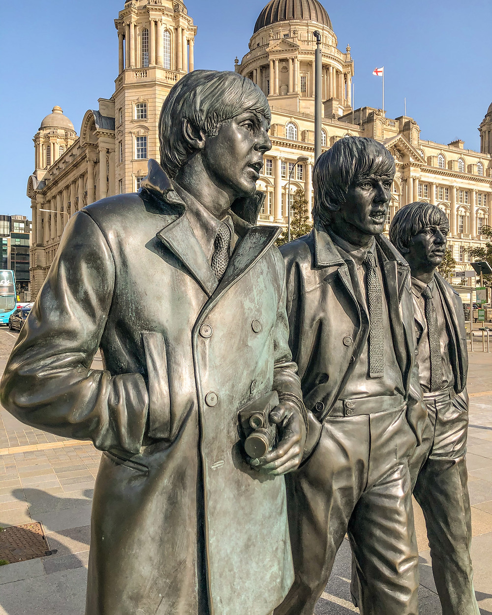 Beatles statue Liverpool Pier Head