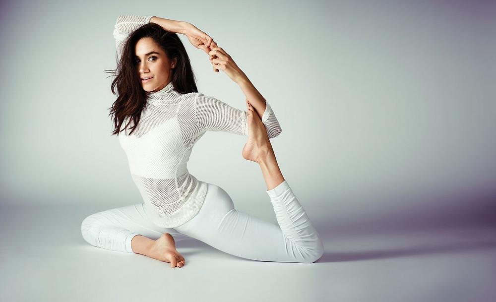 Meghan Markle, yoga, mermaid pose