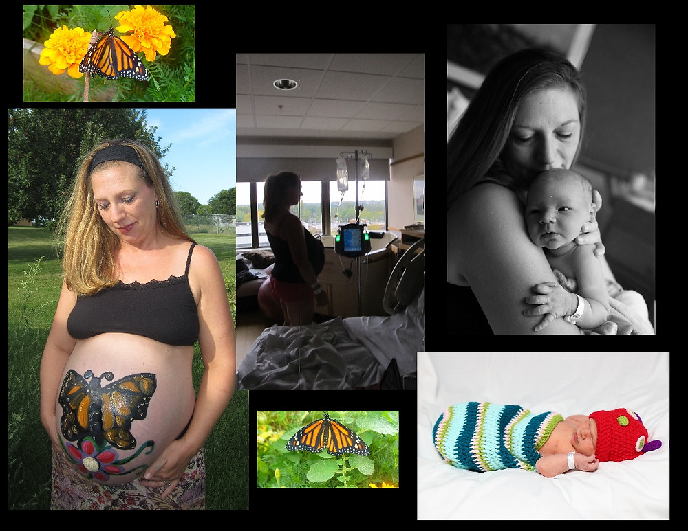 Two butterflies and a baby.JPG