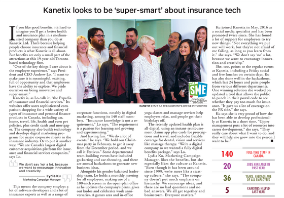 Kanetix Ltd. Named One of Canada's Best Small & Medium Employers