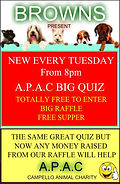 Browns APAC Big Quiz weekly quiz night El Campello