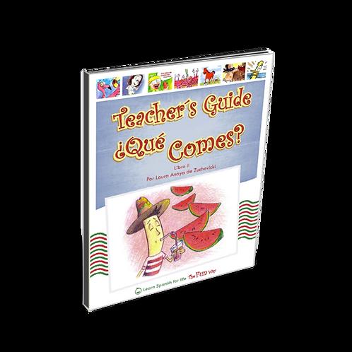 ¿Qué comes?, Teacher's Guide