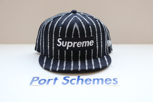 d33bce9e0f2 Supreme SS19 Box Logo New Era Fitted 7 5 8 DS New Navy
