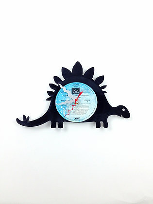 Horloge vinyle recyclé -Vinyl clock- Dinosaure -