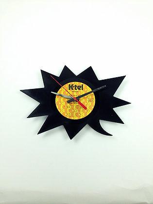 Horloge vinyle-Vinyl clock- Bulle piquante