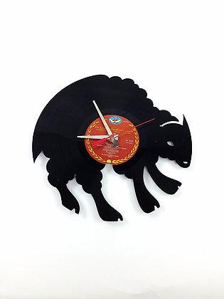 Horloge vinyle recyclé -Vinyl clock-Bison -