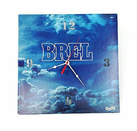 Horloge pochette de disque vinyle recyclée