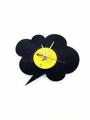 Horloge vinyle recyclé -Vinyl clock- Bulle ronde -