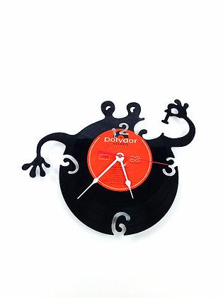 Horloge vinyle-Vinyl clock- Petit monstre #3 -