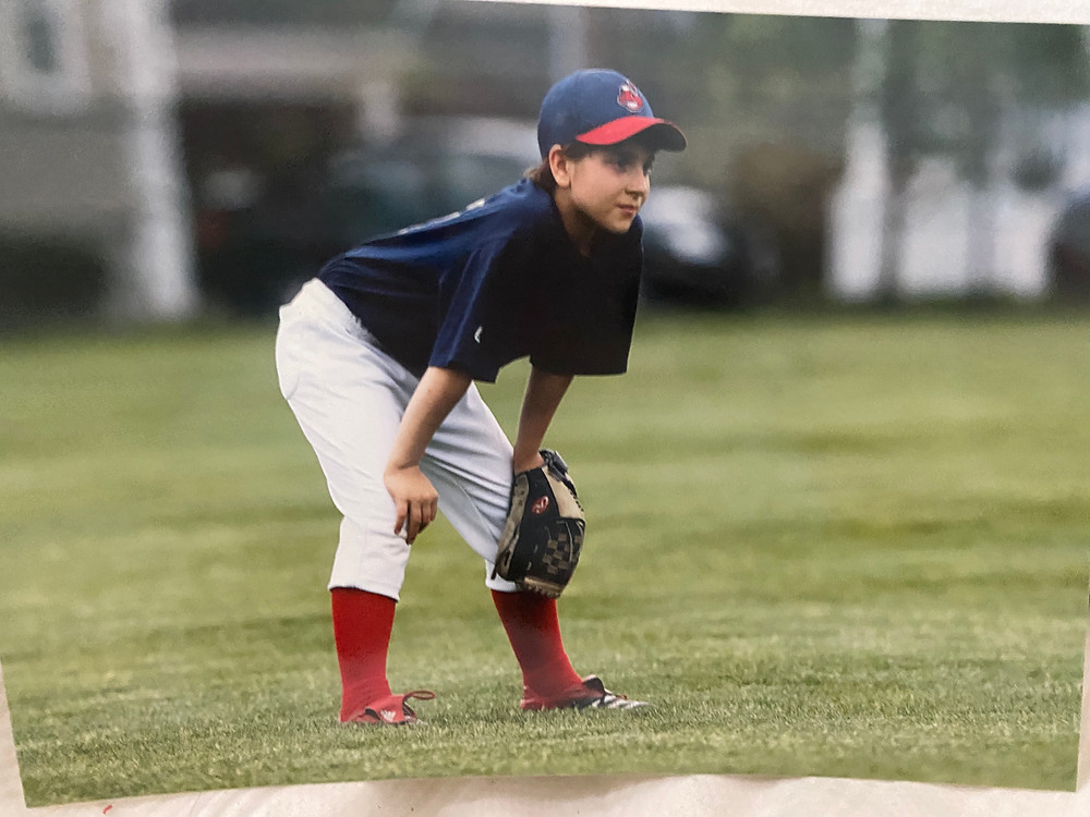 Max on the baseball field