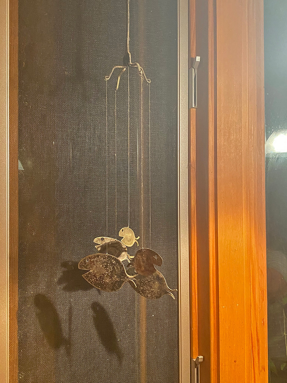 Wind chime in the kitchen window