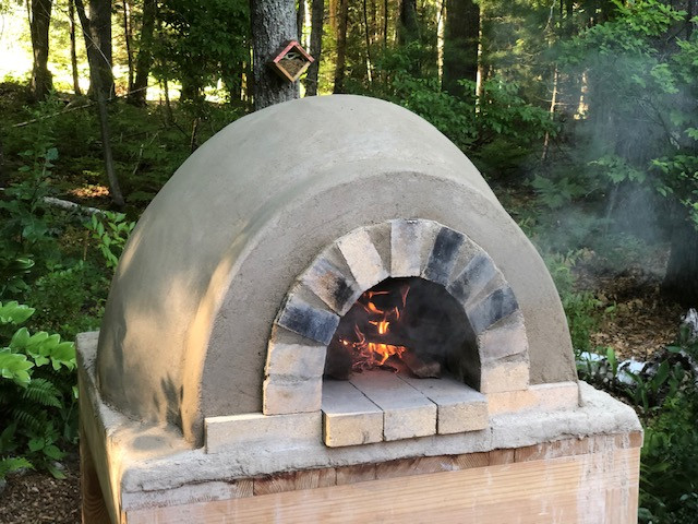 homemade outdoor dome pizza oven