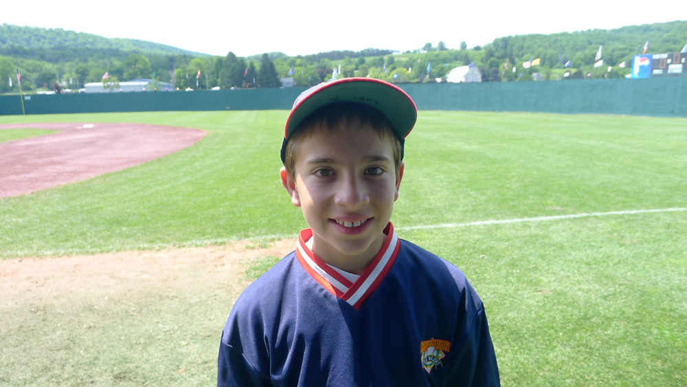 On the field at Cooperstown