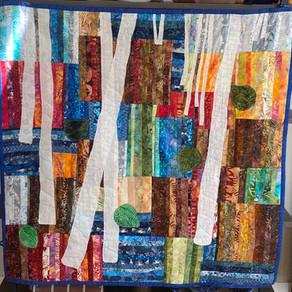 Birch Wall Hanging by Mary-Lynne Bohn