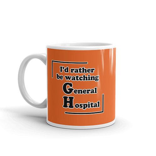 I'd Rather Be Watching GH Mug - Orange
