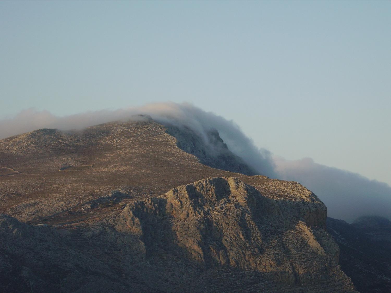 Wolkenband über dem Profitis Ilias